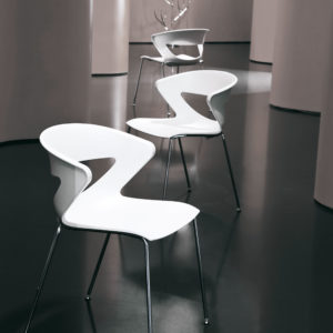 sedia fissa 4 gambe in polipropilene per ufficio casa design Kicca