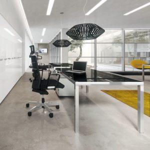 scrivania in vetro ufficio