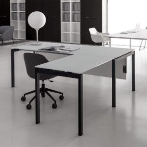 scrivania direzionale in vetro