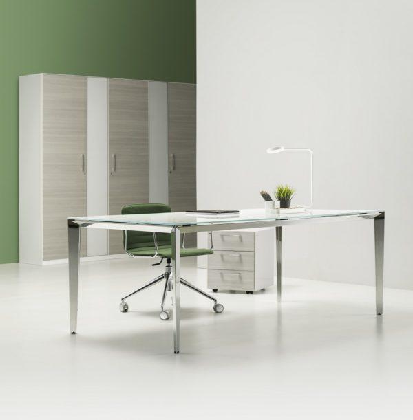 scrivania ufficio direzionale in vetro