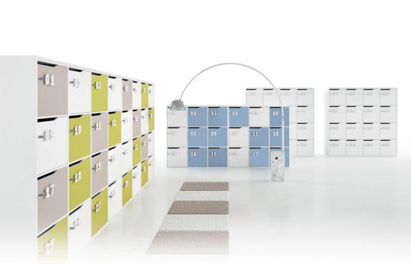 lockers in legno con anta