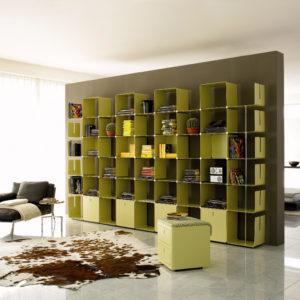 libreria in metallo componibile di design