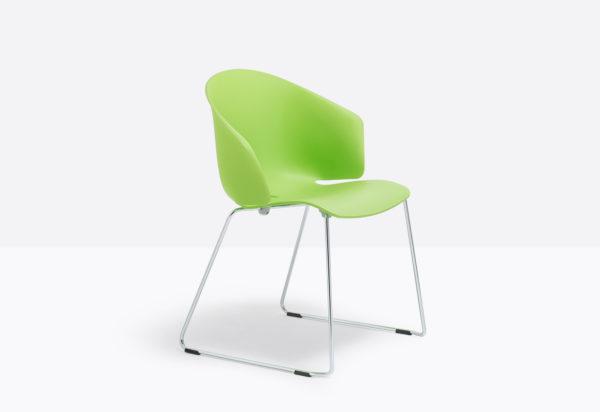 GRACE sedia fissa a 4 gambe per visitatori per sala riunioni per attesa in plastica polipropilene