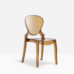sedia fissa economica di design per ospiti riunioni e attesa in policarbonato