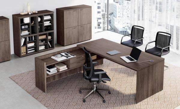 scrivania direzione in legno