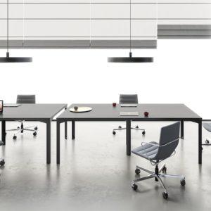 ENNA tavolo riunioni in legno con gambe in metallo - meeting