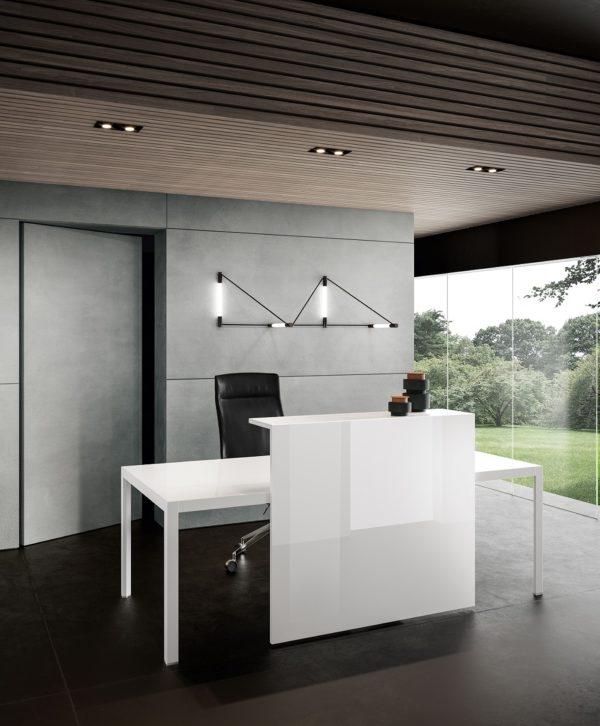 reception economica ufficio mensola in vetro
