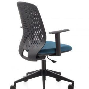 poltrona operativa ergonomica per ufficio con schienale in polipropilene
