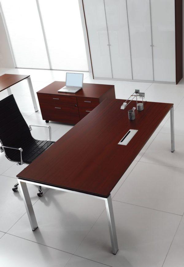 scrivania direzionale in legno GAMBA CROMATA economica