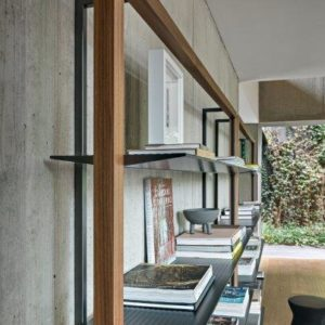 Alix libreria in matallo e legno