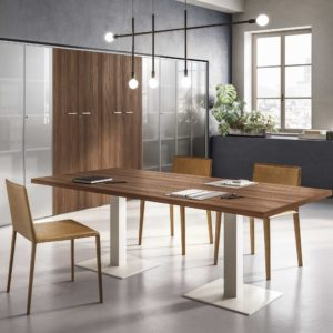 FUNNY descrizione tavolo riunioni in legno con gambe in metallo - meeting