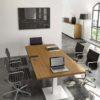 FUNNY tavolo riunioni in legno con gambe in metallo - meeting